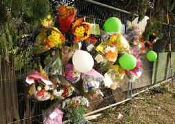 FLORAL tributes and cards have been left at a crash site that claimed the life of a 17-year-old student.